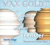 Für Nächte am offenen Fenster 2, Goldt, Max, Hörbuch Hamburg, EAN/ISBN-13: 9783899031560