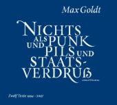 Nichts als Punk und Pils und Staatsverdruss, Goldt, Max, Hörbuch Hamburg, EAN/ISBN-13: 9783899034905