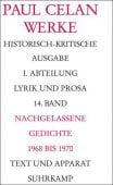 Werke. Historisch-kritische Ausgabe Band 14, Celan, Paul, Suhrkamp, EAN/ISBN-13: 9783518420379