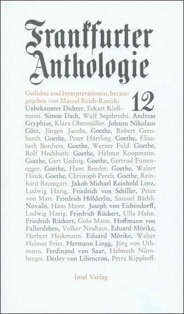 : Frankfurter Anthologie 12