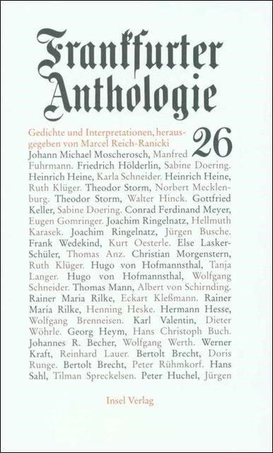 : Frankfurter Anthologie 26
