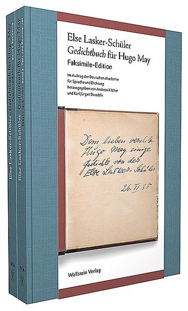Lasker-Schüler, Else: Gedichtbuch für Hugo May