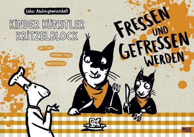 Labor Ateliergemeinschaft: Kinder Künstler Kritzelblock - Fressen und gefressen werden