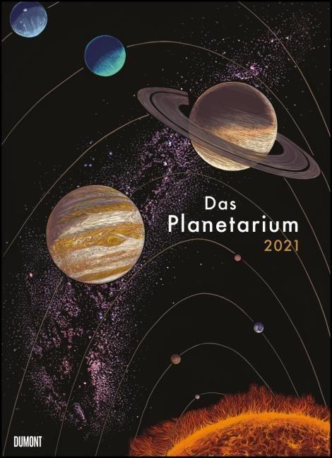 Prinja, Raman/Wormell, Chris: Das Planetarium 2021 - Astronomie im Wand-Kalender - Illustriert von Chris Wormell - Poster-Format 49,5 x 68,5 cm