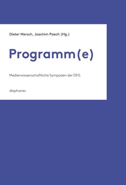 : Programm(e)