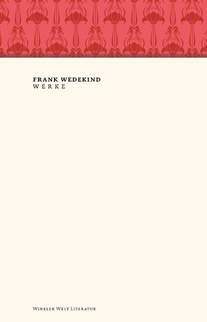 Wedekind, Frank: Werke