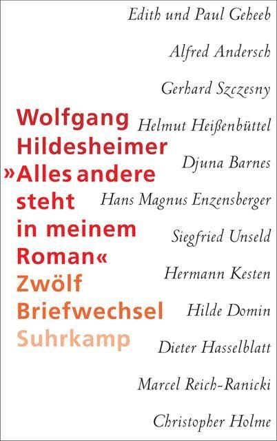 Hildesheimer, Wolfgang: 'Alles andere steht in meinem Roman'