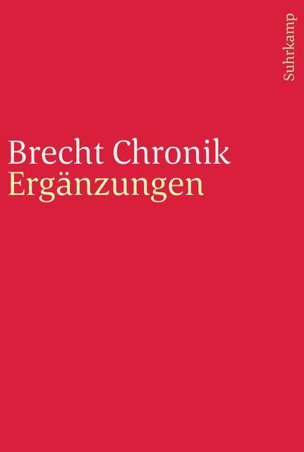 Hecht, Werner: Brecht Chronik 1898-1956