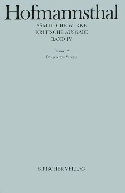 Hofmannsthal, Hugo von: Dramen 2