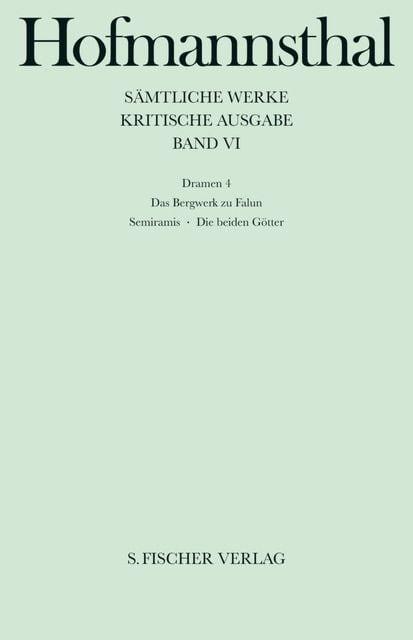 Hofmannsthal, Hugo von: Dramen 4