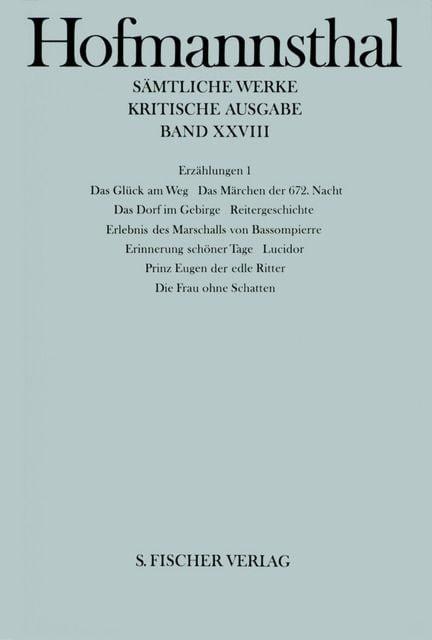 Hofmannsthal, Hugo von: Erzählungen 1