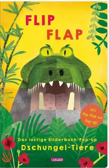 : FLIP FLAP Das lustige Bilderbuch-Pop-up 'Dschungel-Tiere'