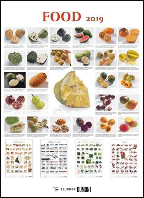 : FOOD 2019 - Lebensmittel-Warenkunde - Küchen-Kalender von DUMONT- Poster-Format 49,5 x 68,5 cm
