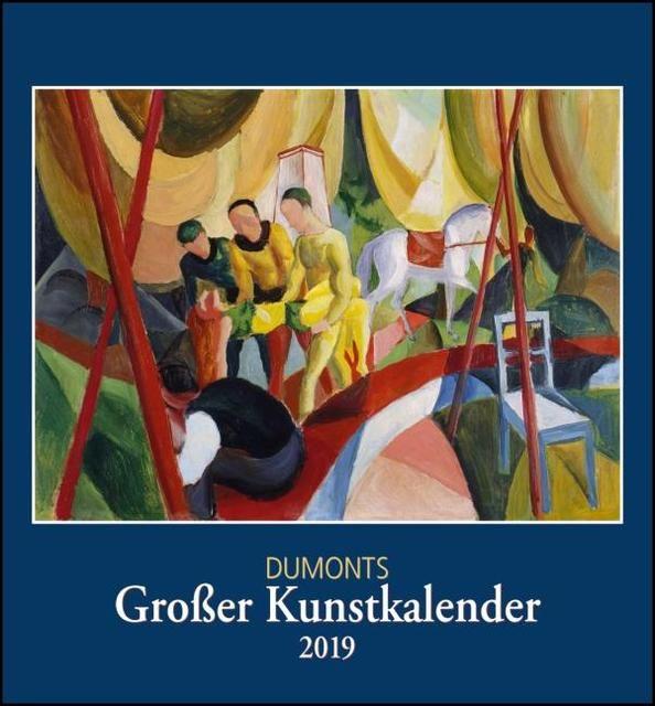 : Kunstkalender 2019, DuMonts Großer Kunstkalender, Wandkalender Format 44,5 x 48 cm