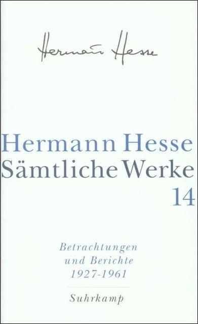 Hesse, Hermann: Sämtliche Werke 14