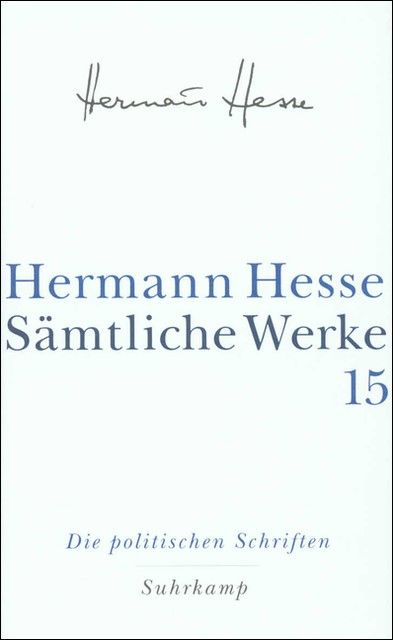 Hesse, Hermann: Sämtliche Werke 15