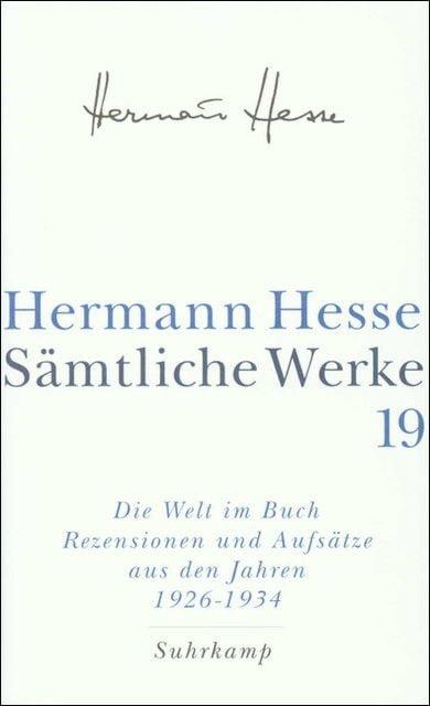 Hesse, Hermann: Sämtliche Werke 19