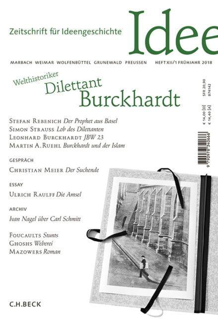 : Zeitschrift für Ideengeschichte Heft XII/1 Frühjahr 2018