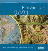 Geographisch-Kartographischer Kalender 2021 - Kartenreliefs - Wand-Kalender mit historischen Landkarten - 45 x 48 cm, EAN/ISBN-13: 4250809647326
