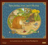 Sven Nordqvist: Spaziergang mit Hund 2021 - DUMONT Kinder-Kalender - Mit 12 Such- und Wimmelbildern - Format 38,0 x 35,5 cm, EAN/ISBN-13: 4250809646725
