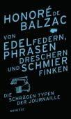 Von Edelfedern, Phrasendreschern und Schmierfinken, Balzac, Honoré de, Manesse Verlag GmbH, EAN/ISBN-13: 9783717523826