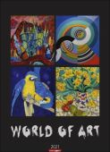 World of Art Kalender 2021, Weingarten, EAN/ISBN-13: 9783840078675